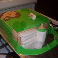 Diaper Bag Cake Diaper bag Cake Van w/ condensed milk filling (made up recipe) and MMF.