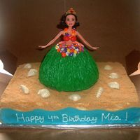 Snow White_Luau Cake The theme was Snow White/Luau and this is what I came up with it. My cake was inspired by one I saw here on cakecentral done by...