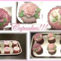 Rose And Rosebud Cupcakes!! Hi these are red velvet cupcakes that I made just for my husband and kids, and to experiment a bit with buttercream , roses, borders and so...