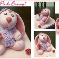 Pink Bunny!!! :d Cake Topper Hi everyone, just wanted to show you my first all handmade Fondant/Gumpaste figure, I saw something similar made of cold porcelain (not...