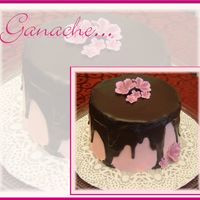 Pink And Chocolate Ganache! I made this cake because my MIL was coming to visit, she's a big chocolate fan, so I made dark chocolate cake with caramel filling,...