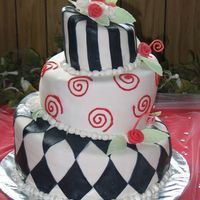 Pretty In...black? Black and Red Wedding Cake