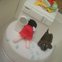 Washing Machine Cake Ideas taken from all around CC so thankyou to all :) Chocolate cake with Gumpaste washing machine as removable and keepable topper , made...