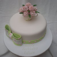 70Th Birthday Cake I made this cake for my nanas 70th, i got the idea from a cake i saw on flickr, it was a stunning cake and i tried to recreate it, it...