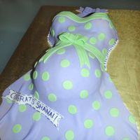 Polka Belly I did this cake for an old high school friend's baby shower. BC and Fondant, belly was made with sports ball mold and wonder mold. TFL...