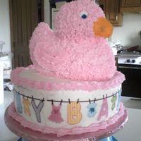 Pink Duck Baby Cake