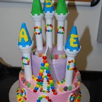 Candy Castle Cake This was largely based on the Candy Castle design on the Castle set box and on Wilton's site. With some modifications to the towers...