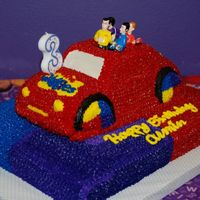 The Wiggles Big Red Car Cake I made this for my son's 3rd birthday. He loves the Wiggles and he loved this cake! Everybody who was there thought we had ordered it...