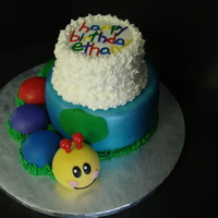 Baby Einstein Caterpillar This was for my friend's son's 1st birthday. She asked for a cake with the Caterpillar from Baby Einstein. The caterpillar was...
