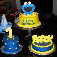Cookie Monster Cake Thanks to jamison3boys for the inspiration and direction on this!