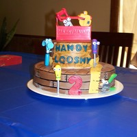 Handy Manny Birthday A Handy Manny birthday cake for my son's 2nd birthday. As a rule I try to NEVER use items on a cake that aren't edible. Due to...