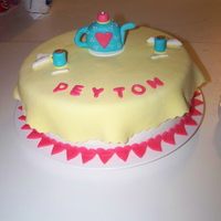 Tea Party Cake   Made for a little girls tea party themed birthday. Covered in MMF