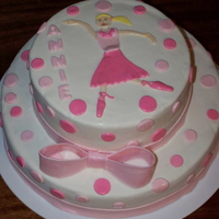 Barbie Ballerina Cake Chocolate cake covered in MMF. TFL.