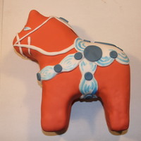 Dala Horse Cake For a Swedish birthday, a Dala Horse Cake!