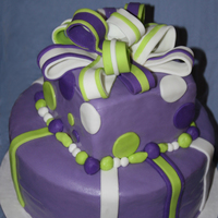 Purple Bday This cake was for a 60th bday, they wanted purple and lime green