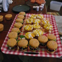 Picnic For Desert Cupcakes for a July 4th party. So fun and easy!!! Had a hard time getting people to taste them :)