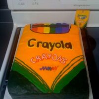 Crayon Box   I made this cake for my class' end of the year party. They loved it!!