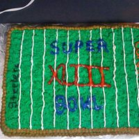 Super Bowl 43  I made this cake with all BC. I used a grass tip on the top and circle tip for the borders. I had a greater vision in mind, but it turned...