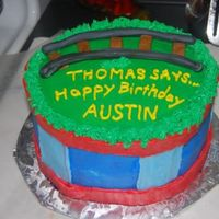 Thomas The Train thomas cake in bc with fondant track- bday boy had the train to put on