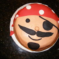 Pirate Pirate cake with fondant accents.