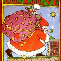 Believe Chocolate Candy Plaque