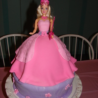 Barbie As Musketeer This is my first doll cake. I was a little concerned to do it but it was for my daughters so I just relaxed and did it. I made it simple...