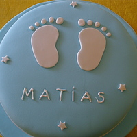 Baby Foot chocolate cake with dulce de leche filling cover in fondant