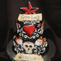 Tattoo Themed Cake