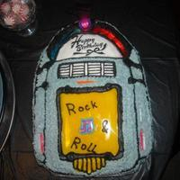 50's Jukebox Cake There is neon running all along the cake, and the musical note flashed .