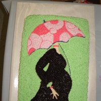 Baby Shower Mod Mom Theme This is a cake from the Mod Mom Theme plates/ napkins we found