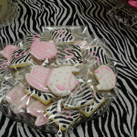 Tea Pot And Tea Cup Cookies, And Square Zebra Cookies