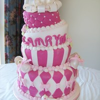 Topsy Turvy Baby Shower fondant with fondant accents