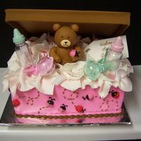 Gift For Baby I had to make a baby shower cake with the color scheme pink and brown and lady bugs. I tink I did ok. My customer liked it so that is what...
