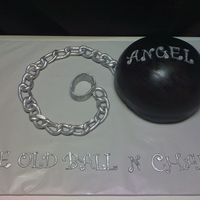 The Old Ball N Chain This cake was for a G rated bachelor party. All decor is fondant brushed with edible silver. TFL!