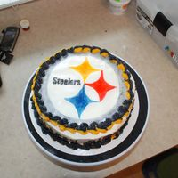 Steeler's Birthday Cake