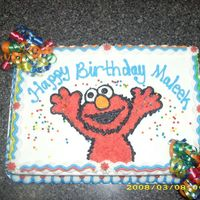 Elmo Birthday Cake This cake was not only inspired by Cakery, I tried to copy as much of her style as I could!!! ;-) It was for a 3 y.o. boy, so I thought...