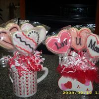 Valentine's Cookie Bouquets Samples of the bouquets I sold this year.