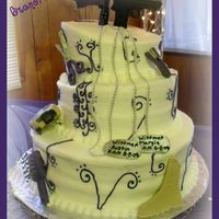 "Austin & Margie Austin & Margie Wittmer's Whimsical - Topsy-Turvy Wedding Cake Cakes 8"" White Cake with Cookies & Cream Filling10""..."