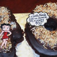 Betty Boop 40Th Cake Cake is an inside out German Chocolate cake. The Betty Boop is made out of gumpaste and hand painted. You can find step by step...