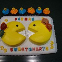 Our Pac Man 20Th Wedding Anniversary Cake  I made this cake for my husband and me for our 20th wedding anniversary. We met while playing a Pac Man machine so this was a good cake to...