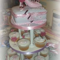 My 1St Shoe Box Cupcake Tower This turned out lovely made for a friend locally who had to take it 200miles to her sister. I was really worried about the shoe as it was...