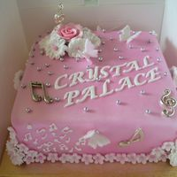 A Cake For A Music Teacher This was made for a music teacher name Alice but nicked name crystal palace by her grandson.