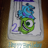 Monsters Inc Cake Frozen Butter Cream Transfer
