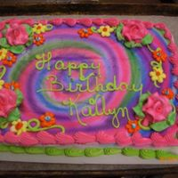 A Very Happy Cake   THIS CHILD LOVES COLORS.DID THE TYE DYED LOOK