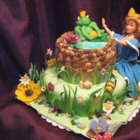 """the Frog Prince"" Just completed my wilton course-3 and this is my first cake contest entry.Lemon and choclate cake with white choclate filling covered with..."