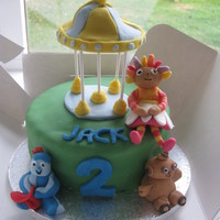 In The Night Garden All fondant, lolly pop sticks to hold up carousel
