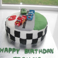Lightening Mcqueen Cars All made from fondant