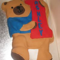 First Birthday Bear I used the wilton winnie the phoo tin, but altered the face (and colour scheme) so it was not a winnie cake as they just wanted a simple...