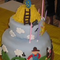 Farm Cake all fondant 100% edible. Thanks to many CC users for inspiration for this cake for my daughter!