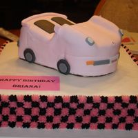 Sweet 16 This cake was made for a girl turning 16. Its a chocolate cake with buttercream icing and the car is covered in fondant. I forgot to take a...